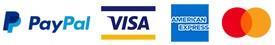 PayPal VISA AmericanExpress MasterCard